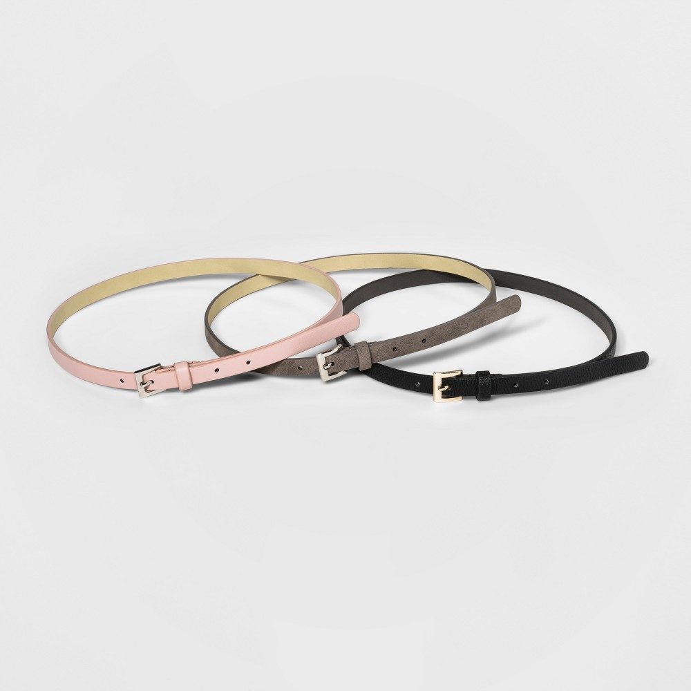 Women's 3 for 1 Belts - A New Day Black Xxl
