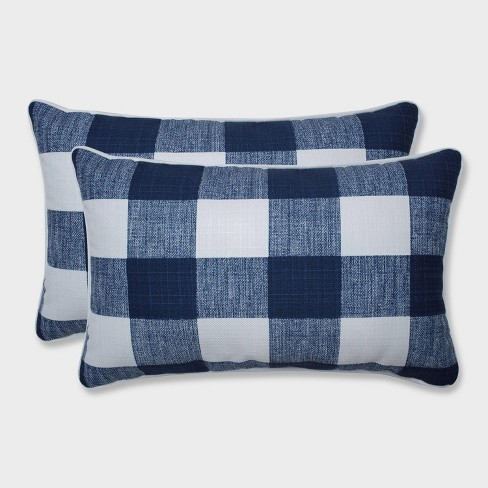 2pk Anderson Zaffre Rectangular Throw Pillows Blue - Pillow Perfect - image 1 of 1