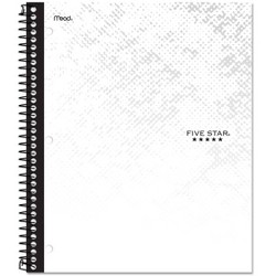 Five Star 1 Subject College Ruled Spiral Notebook