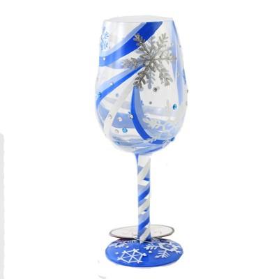 """Tabletop 9.0"""" Snowflake Dreams Stemmed Wine Glass Enesco  -  Drinkware"""