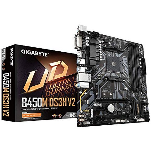 GIGABYTE B450M DS3H V2 (AMD Ryzen AM4/Micro ATX/M.2/HMDI/DVI/USB 3.1/DDR4/Motherboard) - image 1 of 4