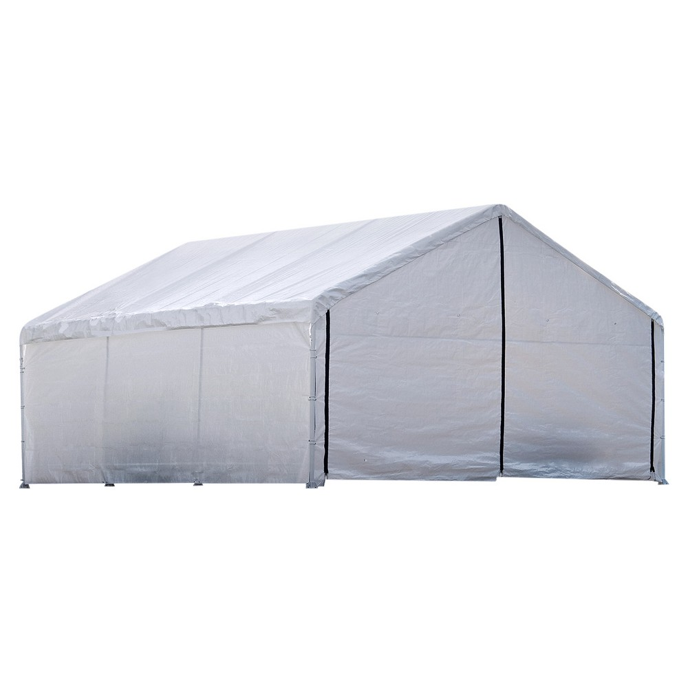 Super Max 18' X 20' Canopy Enclosure Kit Fits 2 Frame - White - Shelterlogic
