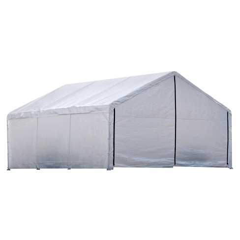 "Super Max 18' X 20' Canopy Enclosure Kit Fits 2"" Frame - White - Shelterlogic - image 1 of 5"