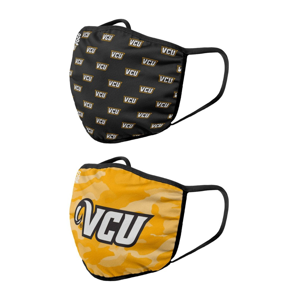 Ncaa Vcu Rams Adult Face Covering 2pk