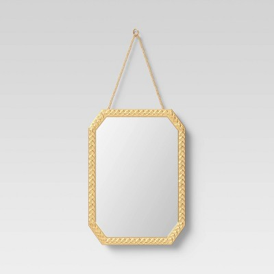 "10"" x 14"" Octagon Metal Novelty Mirror Brass - Opalhouse™"