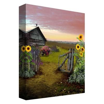 Sunflower Farm Decorative Canvas Wall Art 11 x14  - PTM Images
