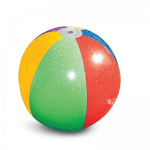 "Swim Central 35"" Inflatable Splash and Spray 6-Panel Beach Ball Toy - Vibrantly Colored - image 1 of 2"