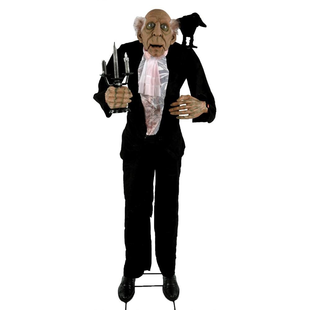 5.6' Halloween Animated Butler, Multi-Colored