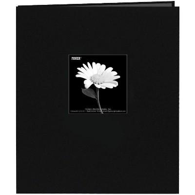 "Pioneer Fabric Frame Post Bound Album 8.5""X11""-Black"