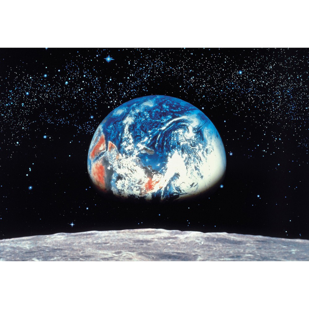 Earth and Moon Wall Mural