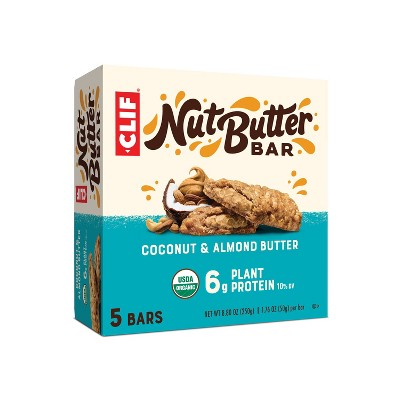 CLIF Nut Butter Bar - Coconut Almond Butter Energy Bars - 8.8oz/5ct