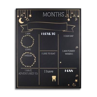 The Peanutshell Star Bright Milestone Chalkboard
