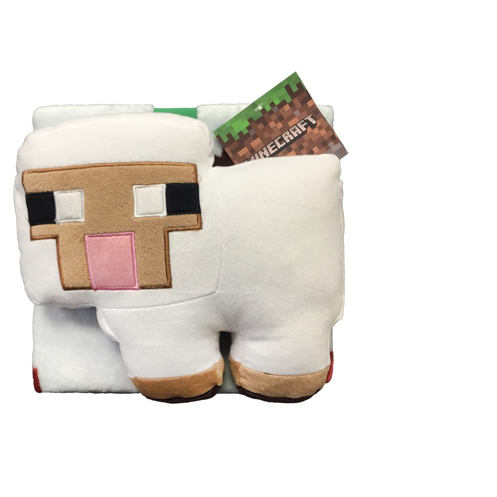 Low Price Minecraft White Throw Blanket 46x60