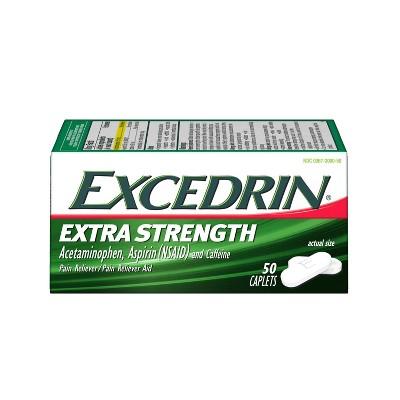 Excedrin Extra Strength Pain Reliever Caplets - Acetaminophen/Aspirin (NSAID)