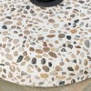 Sahara Round Concrete and Steel Umbrella Base - Colorful Stone and Black - Christopher Knight Home - image 3 of 4