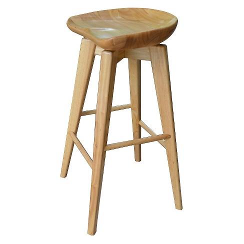 Remarkable Bali Swivel 24 Counter Stool Hardwood Natural Boraam Uwap Interior Chair Design Uwaporg