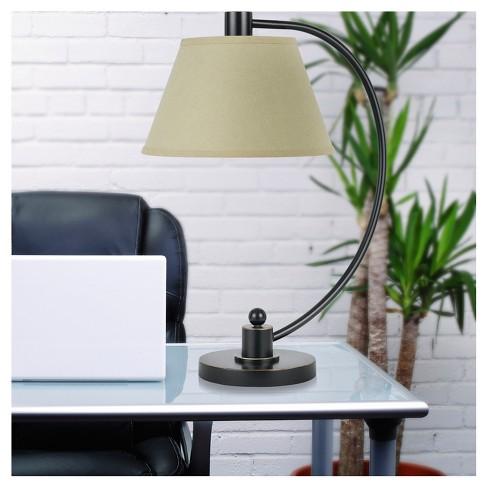 Cal Lighting Calais Dark Bronze Finish Metal Table Lamp With 2 Bulb