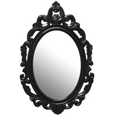 Black Baroque Mirror - Stratton Home Decor