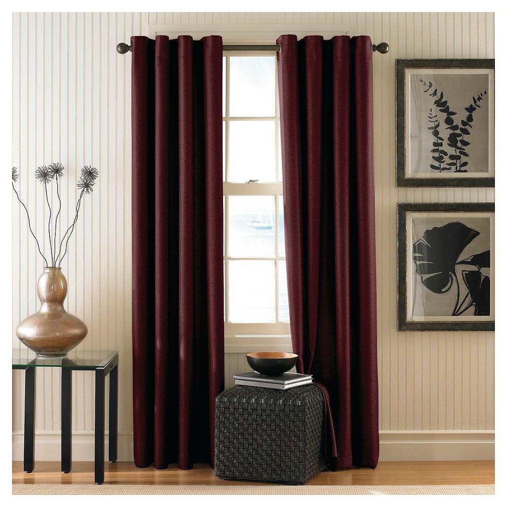 Curtainworks Monterey Lined Curtain Panel - Cinnabar (Red) (95)