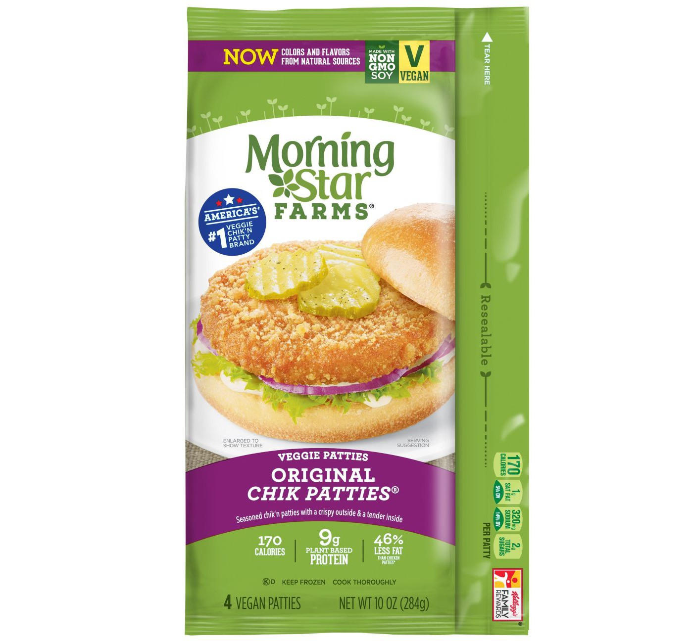 Morningstar Farms Original Frozen Chik Veggie Patties - 10oz - image 1 of 3