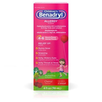 Children's Benadryl Allergy Relief Liquid - Cherry - Diphenhydramine - 4 fl oz