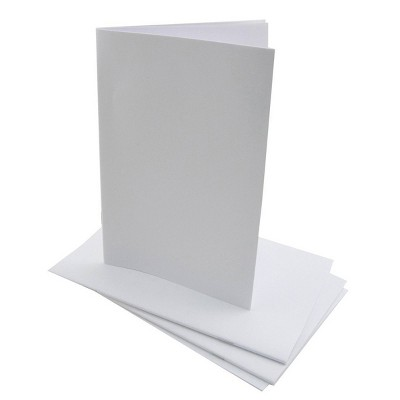 "20ct 5.5"" x 8.5"" Blank Paperback Books White - Hygloss"