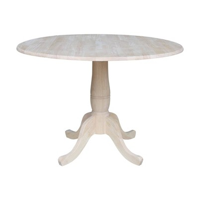 Timothy Round Drop Leaf Table - Unfinished - International Concepts