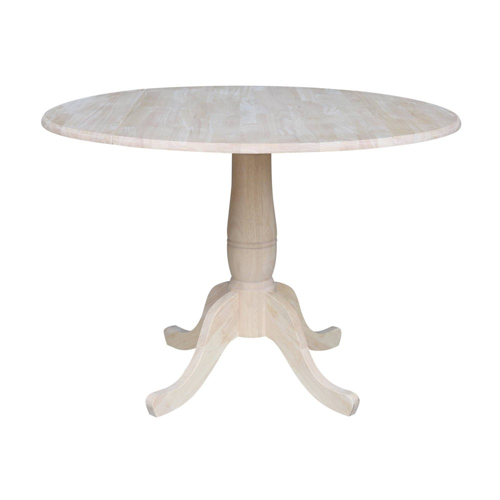 """Image of """"29.5"""""""" Timothy Round Drop Leaf Table Blue - International Concepts, Size: 29.5""""""""H, Beige"""""""