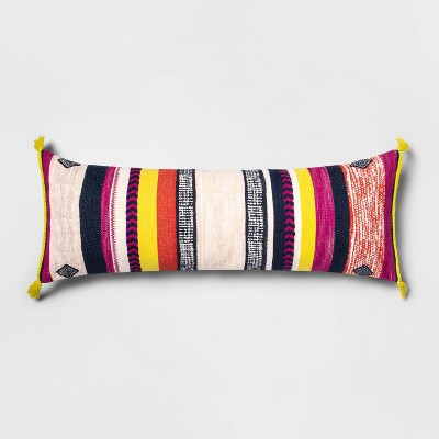Oversized Lumbar Jacquard Woven Pillow with Tassels - Opalhouse™