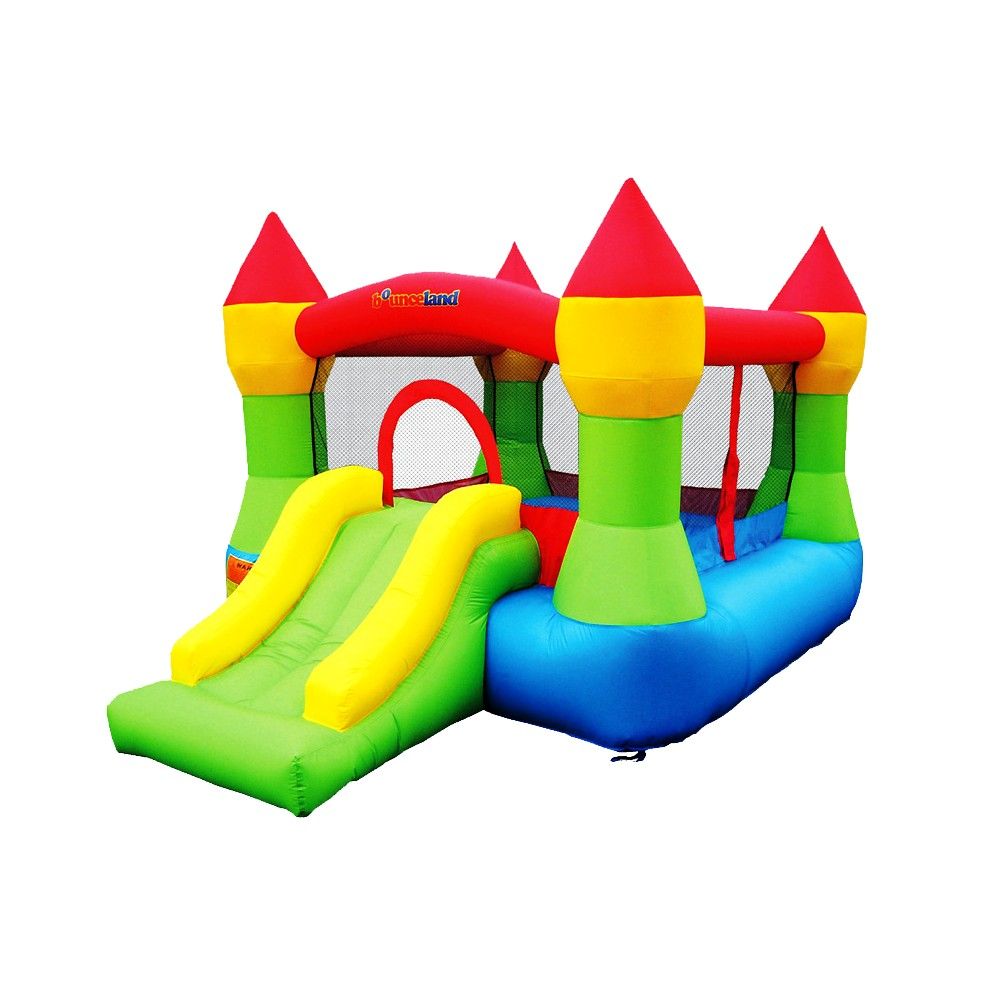 Bounceland Castle Bounce House, Green & Blue