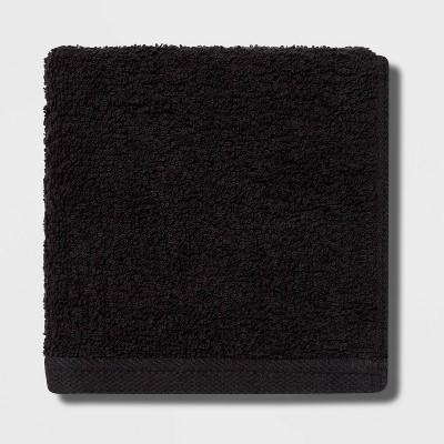 Everyday Washcloth Black - Room Essentials™