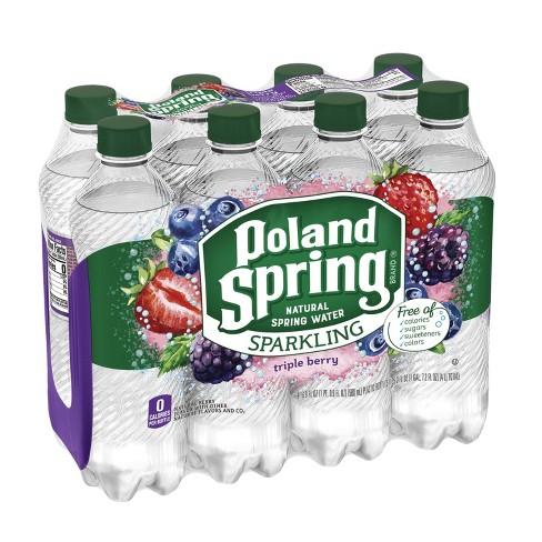 Poland Spring Triple Berry Flavored Sparkling Water - 8pk/16.9 fl oz Bottles - image 1 of 8