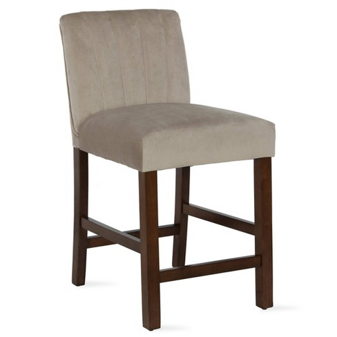 Silas Channel Back Counter Stool - Dorel Living - image 1 of 4