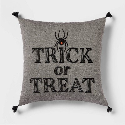 'Trick or Treat' Spider Square Throw Pillow - Threshold™