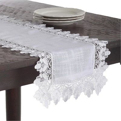 Lace Trimmed Runner White (16 x72 )