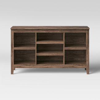 "32"" Carson Horizontal Bookcase Walnut Brown - Threshold™"