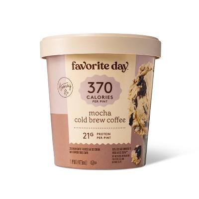 Reduced Fat Mocha Cold Brew Coffee Ice Cream - 16oz - Favorite Day™