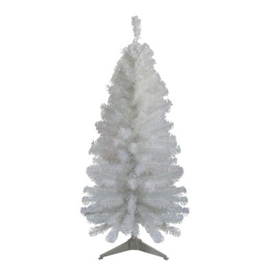 Northlight 4' Unlit Artificial Christmas Tree Slim White Tinsel