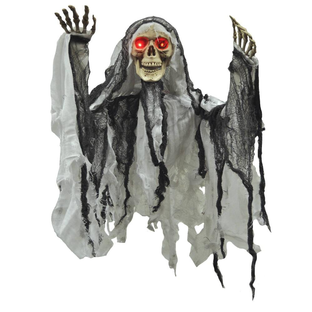 "Image of ""35"""" Skeleton Hanging Reaper Prop Halloween Decorative Holiday Scene"""