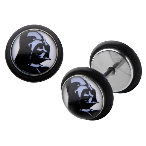 Men's Star Wars Darth Vader Graphic Stainless Steel Screw Back Earrings - image 1 of 1