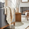 Woven Cotton Textured Loop Throw Blanket Cream - Threshold™ designed with Studio McGee - image 2 of 4