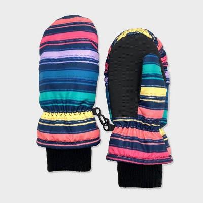 Baby Girls' Rainbow Stripe Ski Mittens - Cat & Jack™