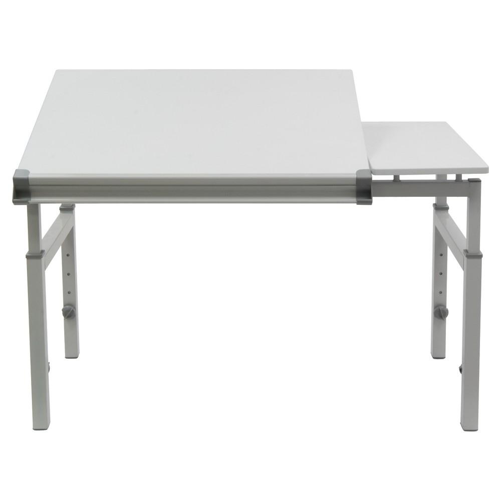 "Image of ""24"""" x 36"""" Canvas & Color Split Top Workstation White - Studio Designs, Gray"""