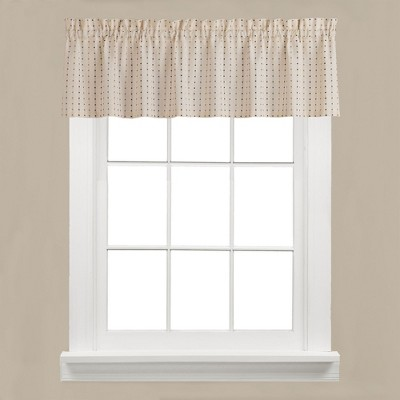 "Saturday Knight Ltd Hopscotch Collection High Quality Stylish Versatile & Modern Window Tiers & Valance - 58""x13"""