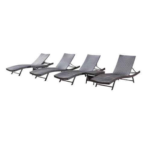 Kauai 6pc Wicker Chaise Lounge Set - Brown - Christopher Knight Home - image 1 of 4