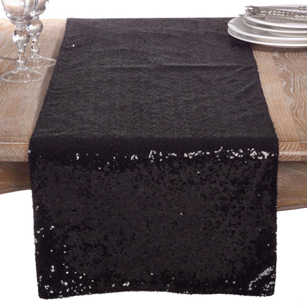 Table Runner Black Saro Lifestyle