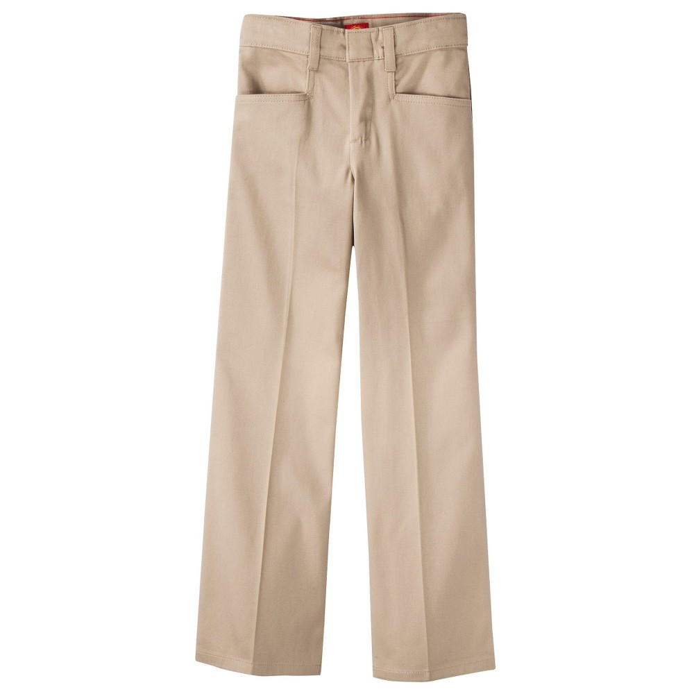 Dickies Girls' Classic Fit Stretch Boot Cut Uniform Chino Pants - Desert Sand 15