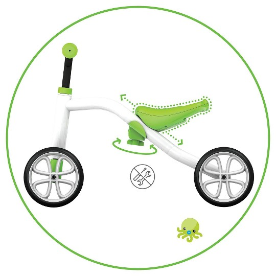 Chillafish Kid's Quadie Grow-With-Me Ride On Bike - Lime image number null
