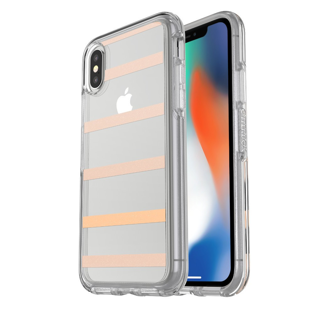 OtterBox iPhone X Case Symmetry - Inside the lines, Medium Clear