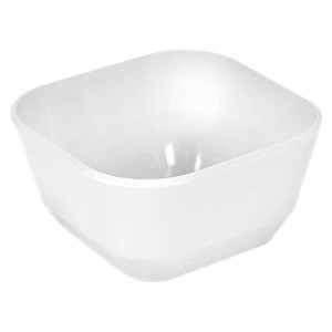 Square Melamine Cereal Bowl 37oz White - Room Essentials